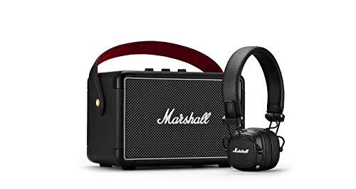 Marshall KILBURN II Altavoz Bluetooth Negro y Major III Auriculares Bluetooth Negro Paquete