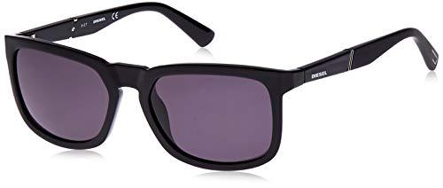 Diesel Unisex-Erwachsene DL0262 01A 56 Sonnenbrille, Schwarz (Nero Lucido/Fumo)
