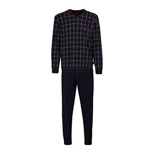 Götzburg Herren Pyjama Schlafanzug lang mit Bündchen 52