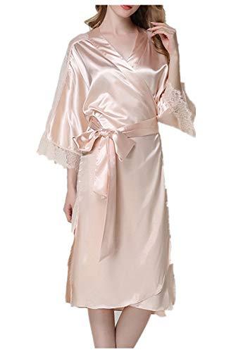 Best Price Women's Sexy Pajamas Underwear Temptation Lace Nightdress Robe Bathrobe Silk Shirt Pajama...