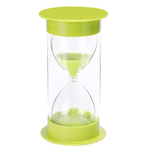 JUNDUN Sanduhr 5/10 / 15/30 Minuten Sanduhren Dekoration Zeitmesser Timer für Kinder Klassenzimmer Küche Spiele(Grün)