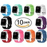 Carhope Fitbit Blaze Bands, Sport Silicone Accessory Replacement Strap Large Small Band Bracelet Bands Fitbit Blaze Smart Fitness Watch (Small 10pcs)
