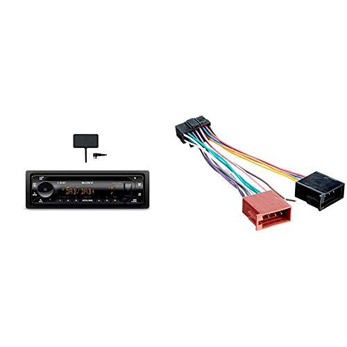 Sony MEX-N7300KIT DAB+ Autoradio mit CD, Dual Bluetooth, USB und AUX Anschluss | Bluetooth Freisprechen | 4 X55 Watt | 3X Preout | Extra Bass | Vario Color & Radioadapter passend für SONY 16pin OEM