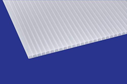 Polycarbonat ECO Stegplatte 16mm, opal, Steg 3-Fach, 16/25/3 ECO 980mm x 2000mm