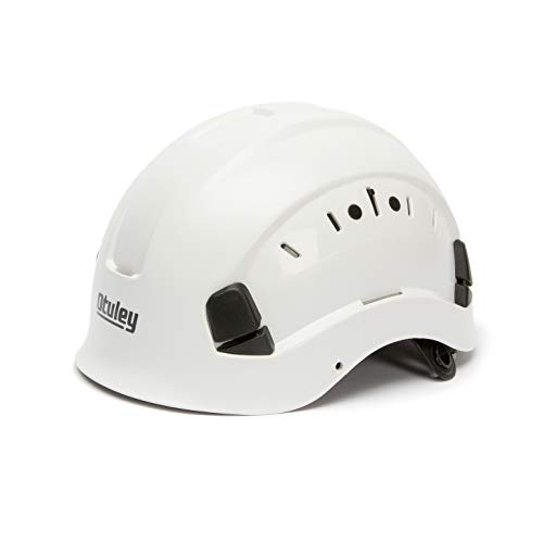 OTULEY Hard Hat welding cap ABS Support 6-point suspension helmet size adjustable suitable for engineering climbing (WHITE)