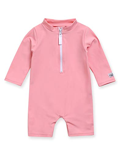 VAENAIT BABY 0-2T Infant Little Girls Swimsuit Onepiece Rashguard Swimwear Fun Pink_Baby L