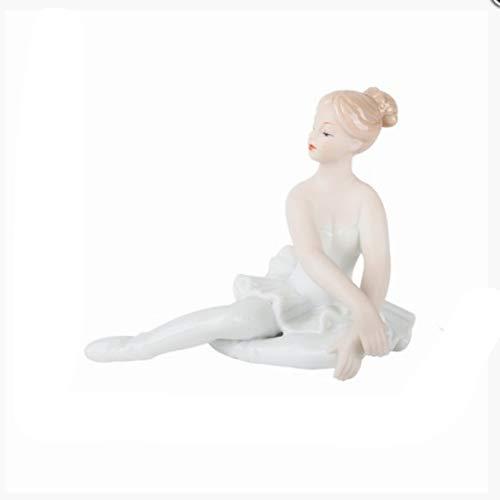 PET HOUND Estatua Escultura Decoración Figura Bailarina De Ballet Creativa Europea Chica Escultura De Arte Figura Figura Cerámica Artesanías Decoraciones Regalo De Boda
