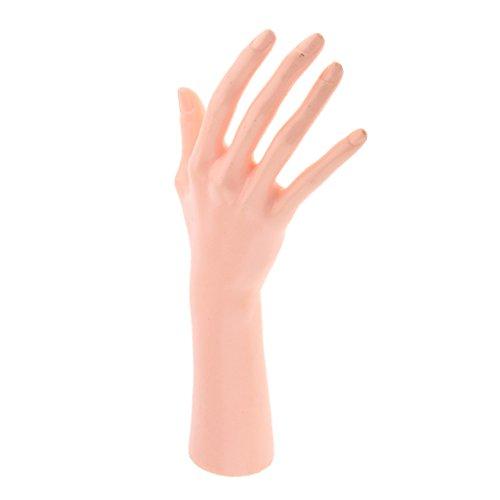 Sharplace (1 Stück Packung) Schaufenster Dekohand Präsentationshand, Weibliche Schmuckhand, Schmuckhalter Hand zur Ring, Armband, Handschuhe Display - Hautfarbe