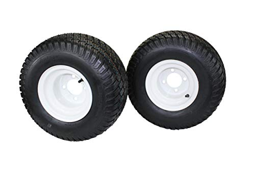 (Set of 2) 18x9.50-8 4 Ply Tire & Wheel Assembly - Compatible with Toro/Exmark 110-6883, 120-2249