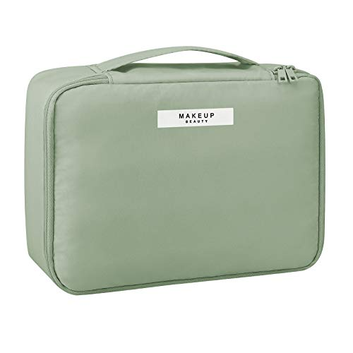 Pocmimut Makeup Bag Cosmetic Bag for Women Cosmetic Travel Makeup Bag Large Travel Toiletry Bag for Girls Make Up Bag Brush Bags Reusable Toiletry Bag(GREEN)