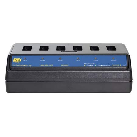 RF1060C 6 Port Lithium-Ion Battery Charger for 3M C1060 & XT1 Drive Thru Headset Batteries