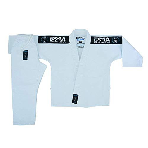 Niños Elite BJJ Pearl Rejer Jiu Jitsu Uniforme - Blanco - Blanco, M000