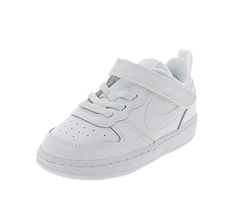 Nike Court Borough Low 2 (TDV) Sneaker, White/White-White, 21 EU