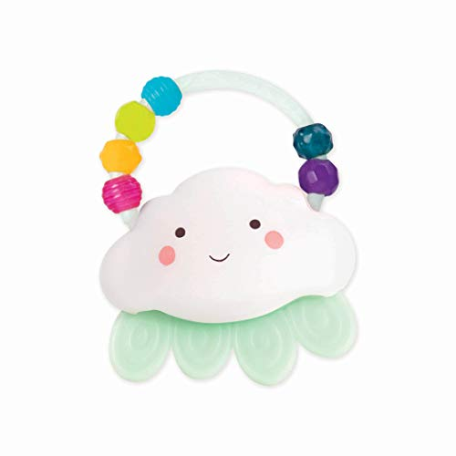 B toys – RainGlow Squeeze – LightUp Cloud Rattle for Babies 3 Months