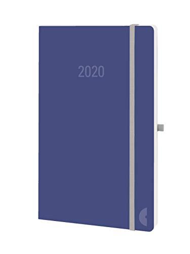 Chronoplan 50760 Buchkalender Kalendarium 2020 (A5 Softcover, Wochenplaner (135x210mm, 1 Woche auf 2 Seiten)) soda blue