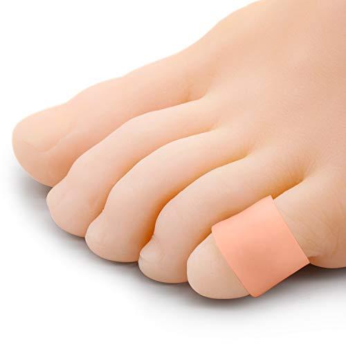 Bukihome Zehenschutz, [12x] Silikon Zehenkappen Kleinere Zehen, zur Polsterung der Zehenblende, Hühneraugen, Hornhaut
