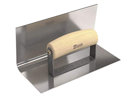 Bon Tool 12-410 8-Inch by 4-Inch Stainless Steel Inside Step Tool with 4-Inch Lip and 1/2-Inch Radius