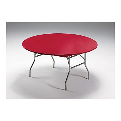 Creative Converting Round Stay Put Plastic Table Cover, 60-Inch, Regal Red -