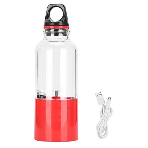 Taza de jugo, fácil de llevar 0,5 kg 500 ml de capacidad Exprimidor USB Taza de jugo eléctrica para casa para viajes(rojo)