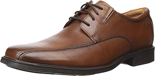 Clarks Men's Tilden Walk (new Color) Oxford, Dark Tan Leather, 8 M US