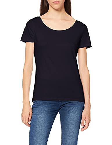 ESPRIT Damen 999Ee1K815 T-Shirt, Blau (Navy 400), Large (Herstellergröße: L)