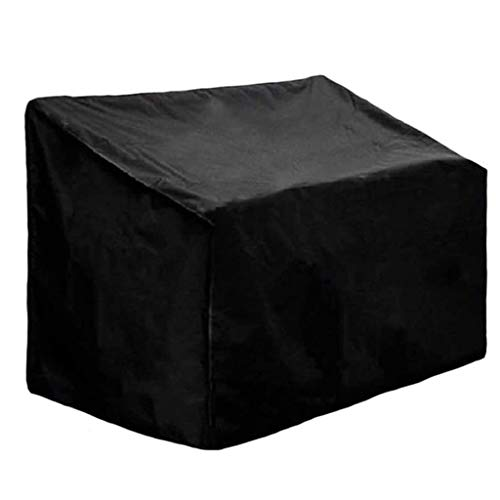 Garden Furniture Covers 162x66x89cm, Patio Furniture Cover Set Waterproof, Patio Table Covers Outdoor Bench Set Waterproof 210D Oxford Fabric Windproof Anti-UV Backyard Terrace,Black