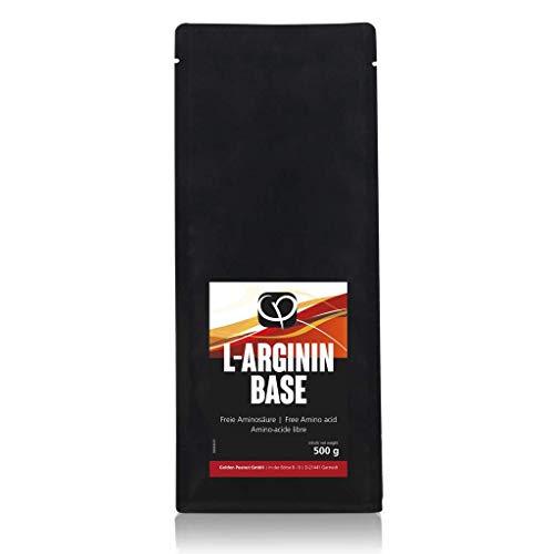 L-Arginin Base Pulver 500g vegan 100% pur ohne Zusatzstoffe | gewonnen aus Fermentation pflanzlicher Ursprung | freie Aminosäure | Golden Peanut