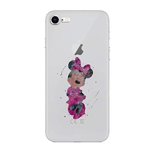 iPhone 5/5s Fankunst siliconenhoes/gel hoes voor Apple iPhone 5s 5 SE/scherm bescherming en doek/iCHOOSE/Minnie Mouse - kleuren