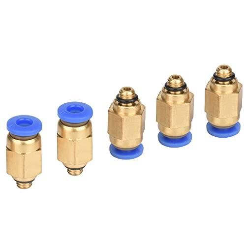 Conector de conexión rápida, 5 unidades, atornillado neumático (M5 x 4 mm)