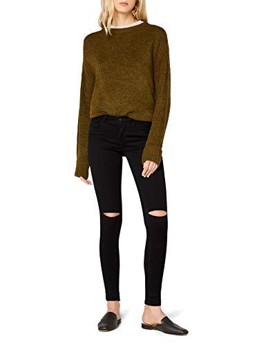 ONLY Damen Onlroyal Reg Sk Kneecut Jeans Pim600noos Jeanshose, Schwarz (Black), 38/L32 (Herstellergröße: M)