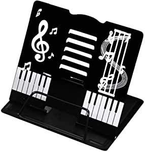 かわいい 折りたたみ卓上の譜面台 書見台としても (黒)