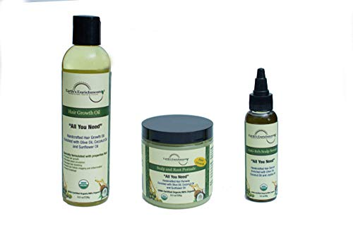 Dry Scalp Treatment, Organic, Anti-Itch Serum, Extremely Itchy, Flaky, Dandruff Relief. Enriched with Tea Tree, Lavender, Rosemary and Jojoba Oil, Great for Weaves, Braids, All Hair Types. 2oz