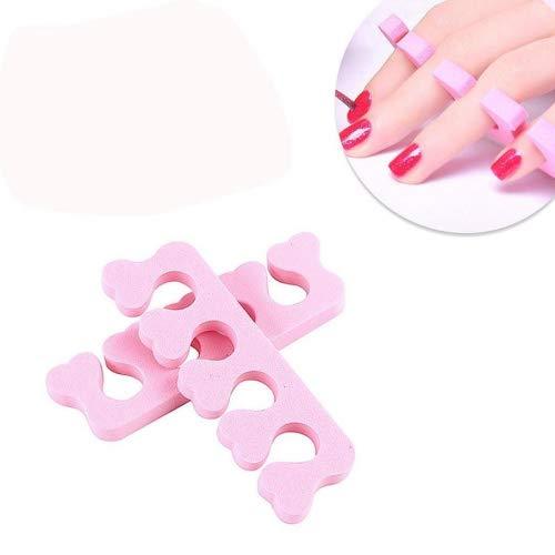 Igemy 40 pcs en mousse souple éponge orteil séparateur séparateur de doigts Nail Art outils
