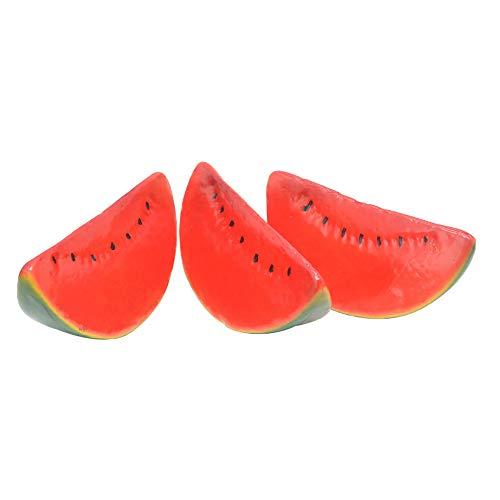 Qianshaung Künstliche lebensechte Wassermelone gefälschte Obstpflanze Spielzeug für Home Kitchen Party Dekoration Fotografie - 1St