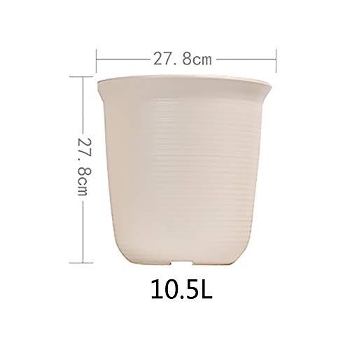 Pot de Fleur Plastique Grande Petit Charnu Floral Épaissir Imitation céramique Résine Green Rose-J 10.5L