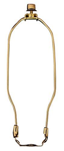 Lampe im Harfen-Design von Royal Designs, Kreuzblumen- und Harfen-Lampe-Halterset, aus poliertem Messing, poliertes Messing, 9.5