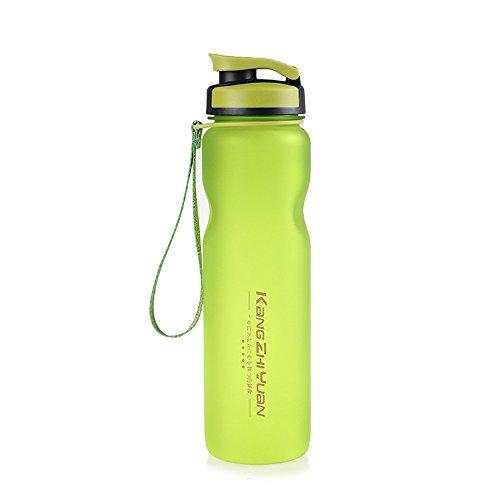 AuchSo Sport - Botella de Agua portátil de Viaje Transparente para Yoga, Oficina, Camping, casa, Senderismo