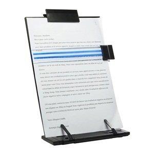 yonghe Soporte de escritorio de metal negro con 7 posiciones ajustables (metal; soporte para documentos)