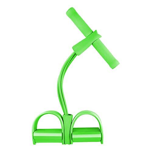 Fascia di Resistenza del Pedale,4 Tubi Sit-up Espansore Bodybuilding Espansore Corda Elastica Attrezzature per Fitness per Addome, Vita, Braccio, Palestra di casa Yoga Stretching Allenamento Verde