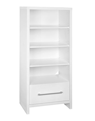 ClosetMaid 1651 Media Storage Tower Bookcase with Drawer White