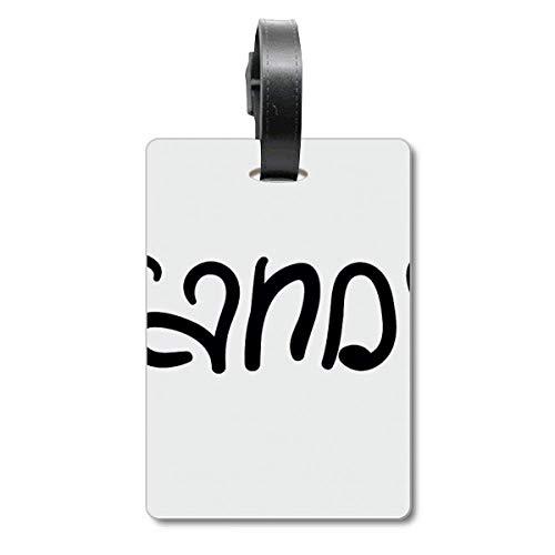 Etichetta identificativa per borsa e valigia, con citazione divertente e alla moda