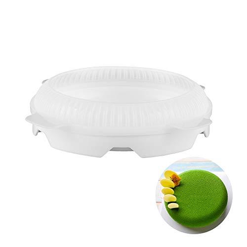 Moule à gâteau rond 20,3 cm en silicone 3d moule à gâteau blanc beicemania fromage rond L