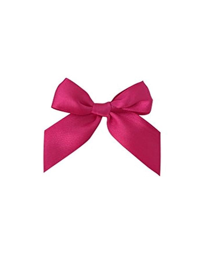 Fuchsia Pink Satin Pre-Tied Bows - 3