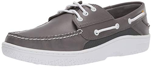Sperry Mens Billfish 3-Eye Boat Shoe, Grey, 7