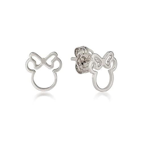 Disney by Couture Kingdom - Pendientes de metal con diseño de Minnie Mouse