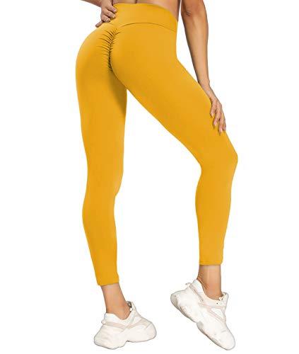 KIWI RATA Mallas Pantalones Deportivos Leggings Mujer Fitness Cintura Alta Leggins Yoga con Bolsillos Elásticos y Transpirables para Yoga Running Deporte