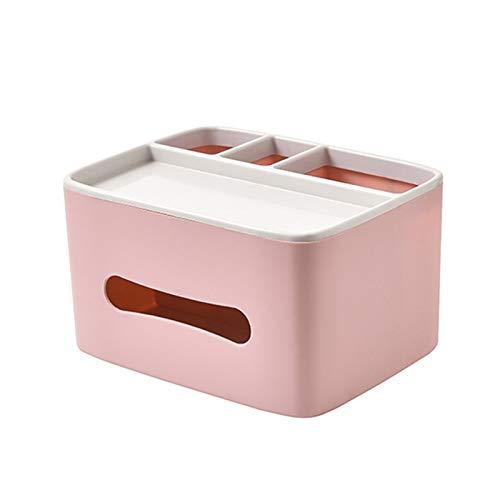 Dispensador de toallas La caja del dispensador de tejido de plástico puede montarse en la pared o colocarse en el escritorio, también es una caja de tejido multifuncional de caja de almacenamiento caj