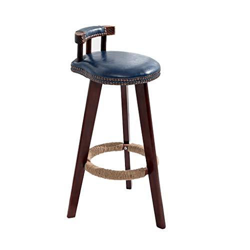 XZGang Dekorativa barstolar, Home Kök Frukost Chair Artificial skinnfåtölj klädaffär Terrace Leisure Pall Skapa enkelt liv (Color : C)
