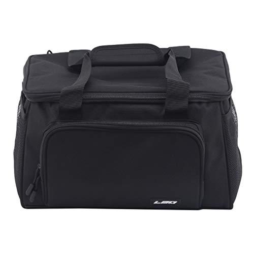 Toporchid Quadratische Angeltasche Holdall Carryall wasserdichte Umhängetasche für den Außenbereich (schwarz)