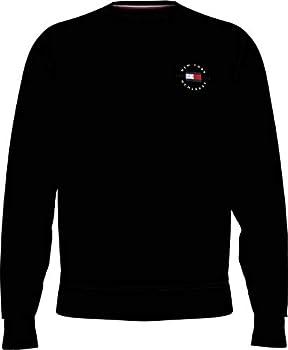 Tommy Hilfiger Circle Chest Corp Crewneck Sweater, Noir, M Homme
